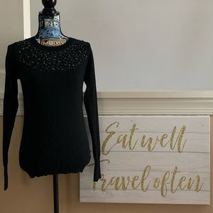 Express Sequin & Bead Embellished Sweater